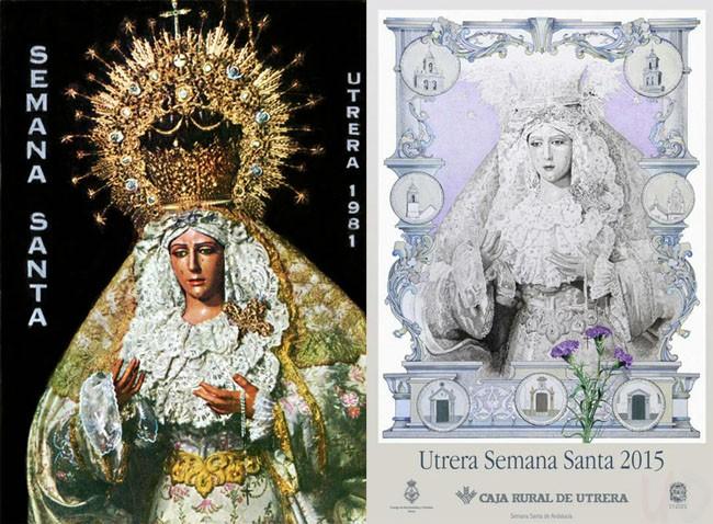 El cartel de la Semana Santa de 2015, basado en la fotografíaque protagonizó el programa de itinerarios de 1981