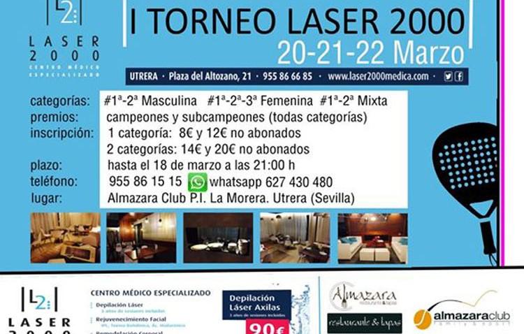 Almazara Club organiza el I Torneo de Pádel «Láser 2000»