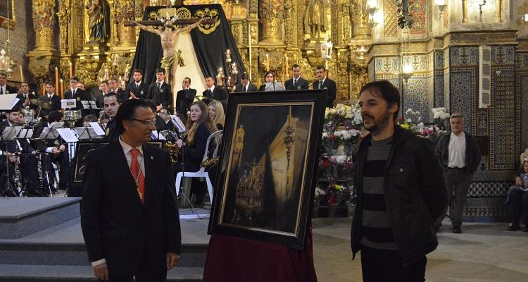 El Cristo del Perdón en la calle Rodrigo Caro, protagonista del cartel «Santuario 2015»