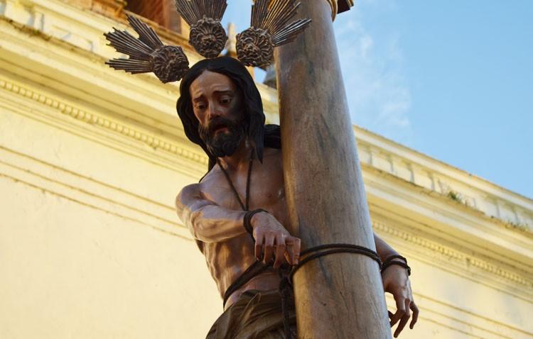 Los Aceituneros anuncian la llegada de Jesús Atado a la Columna tras su restauración el lunes 29