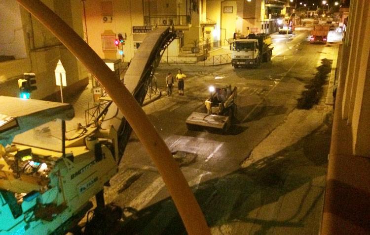 Obras en la avenida Juan XXIII