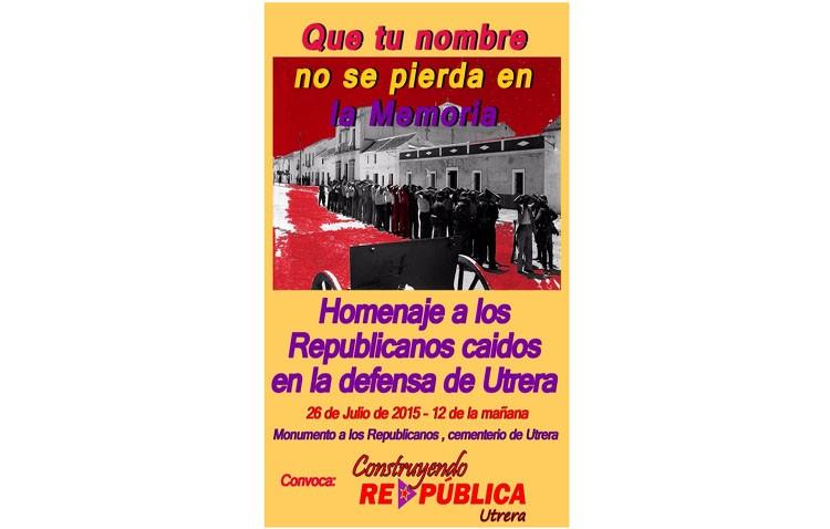 Homenaje en Utrera a los caídos por la República