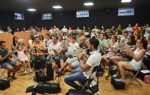La presentación del trabajo tuvo lugar en el local de ensayos de la banda