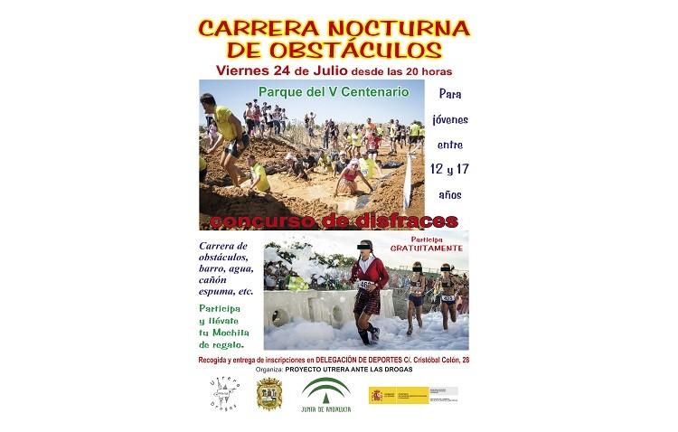 Carrera nocturna de obstáculos en el Parque del V Centenario