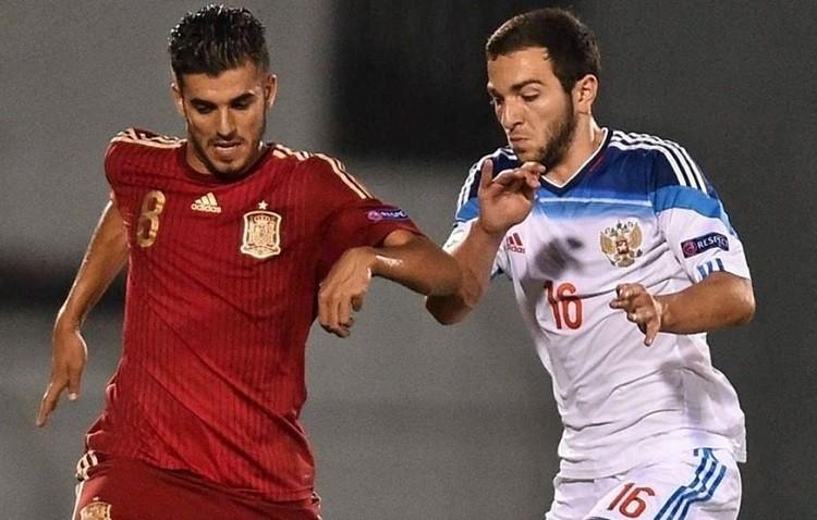 El golazo de Dani Ceballos a Georgia con la selección española sub21 (VÍDEO)