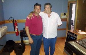 Rafael Alfaro y El Cabrillero, en el estudio de grabación