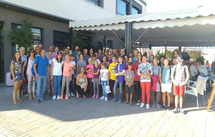 Despedida a los niños bielorrusos que han estado de acogida en Utrera
