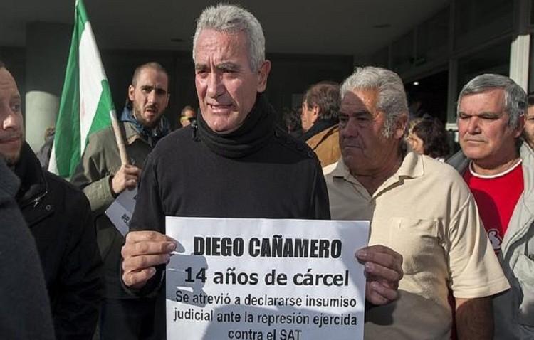 Detenido Diego Cañamero  por su relación con la ocupación de una finca militar de Osuna