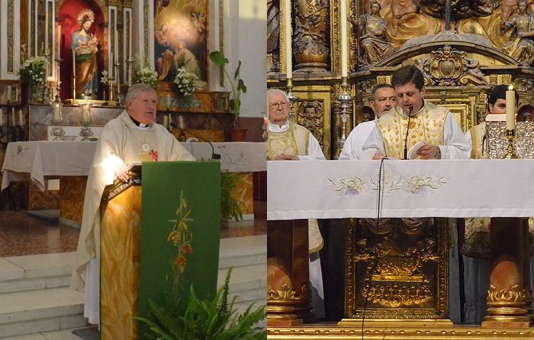 Santa María y San José despiden a sus párrocos