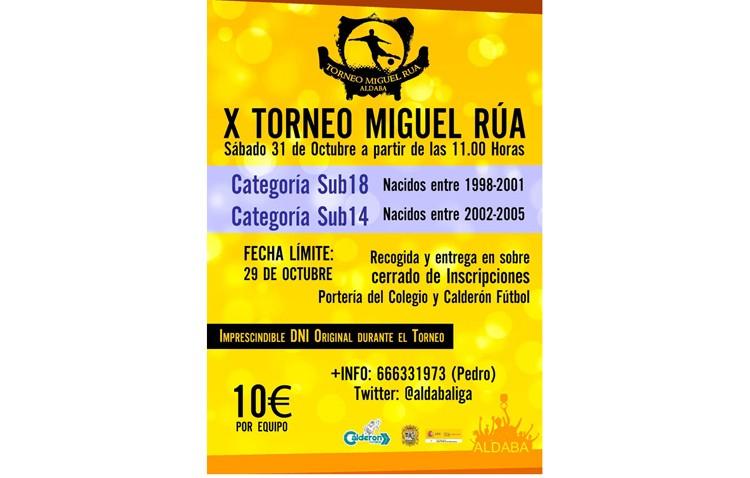 Aldaba organiza su décimo torneo de fútbol «Miguel Rúa»