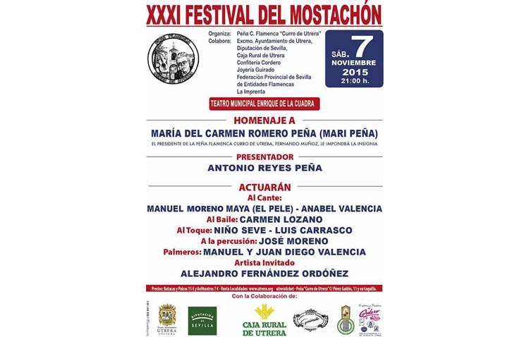 El Pele, Anabel Valencia y Carmen Lozano, protagonistas de un Festival del Mostachón que homenajeará a Mari Peña