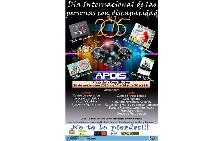 Jornada de talleres y actuaciones musicales por el Día de la Discapacidad