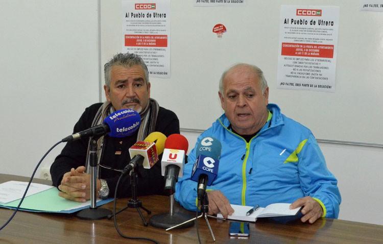 Villalobos desprecia a Comisiones Obreras de Utrera y sólo se muestra dispuesto a dialogar con la sede provincial