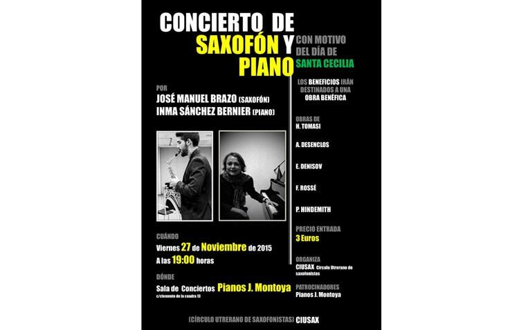 Concierto de saxofón y piano con motivo de Santa Cecilia
