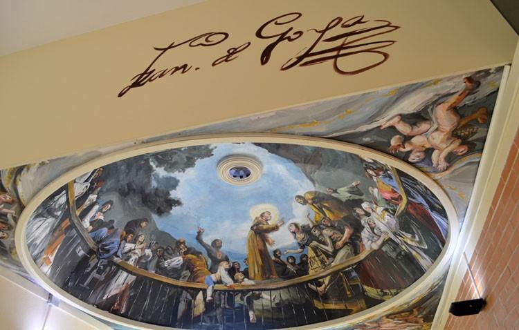 El instituto José María Infantes amplía su «museo» con la cúpula de San Antonio de la Florida (GALERÍA)