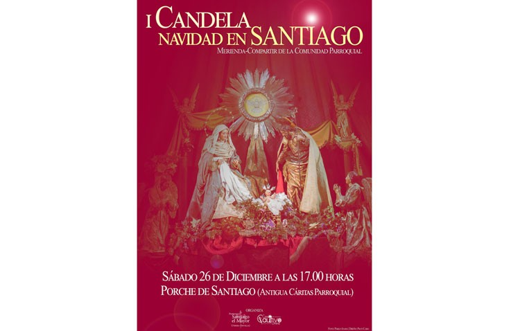 La parroquia de Santiago organiza una candela navideña