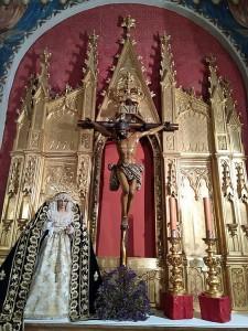 cristo amor y virgen veredas - altar capilla carmen 2