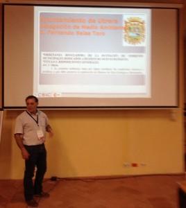 Rafael López durante su intervención