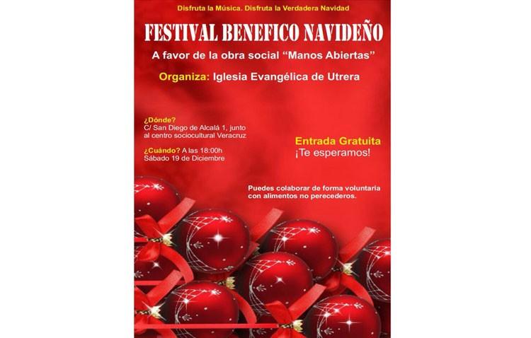 Festival benéfico navideño en la iglesia evangélica