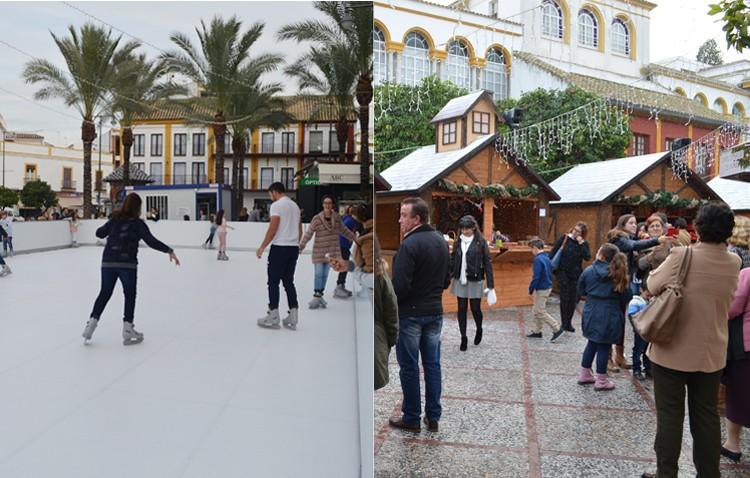 El gobierno instala la pista de patinaje y las cabañas de la plaza de la Constitución «sin permiso de casco histórico»