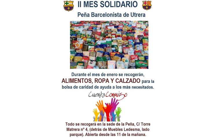 La Peña Barcelonista de Utrera celebra su «mes solidario»
