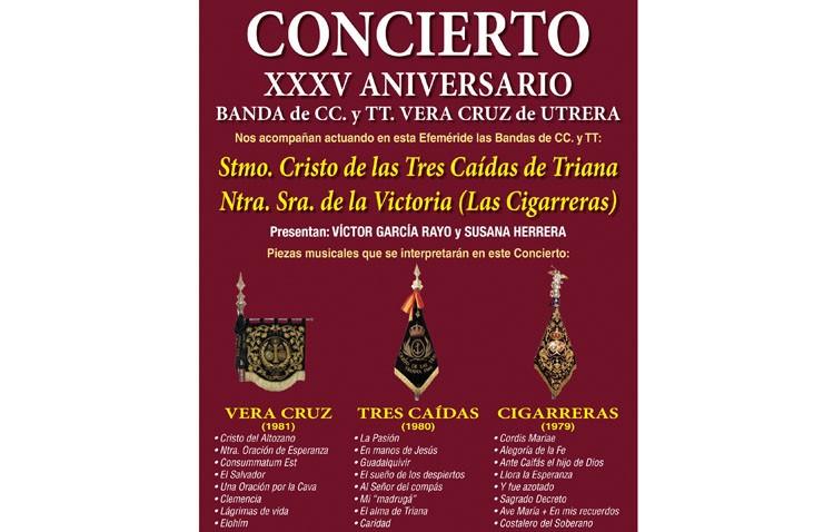 El concierto de la Vera-Cruz, Tres Caídas y Las Cigarreras llegará al teatro con todas las entradas vendidas