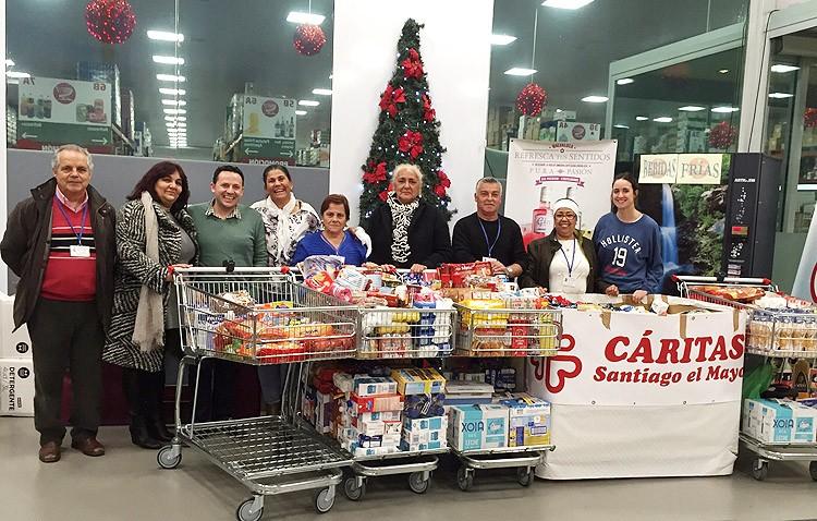 Cáritas de Santiago agradece la colaboración de los utreranos para poder ayudar a más de 300 familias