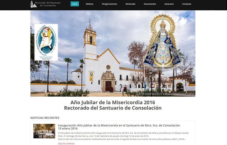 El santuario de Consolación estrena página web con motivo del Año Jubilar de la Misericordia
