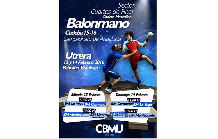Utrera, sede de la primera fase del Campeonato de Andalucía de balonmano cadete masculino
