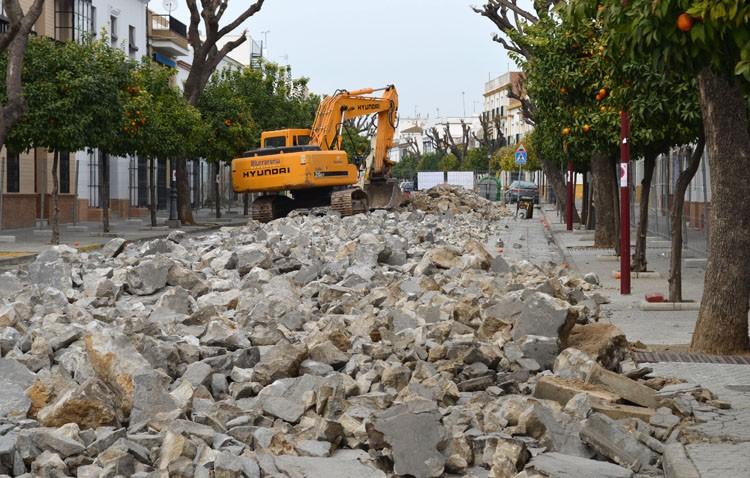 La Corredera vuelve a estar en obras, con la cuarta fase de su reurbanización