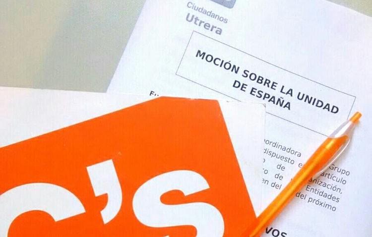 Ciudadanos propone al pleno de Utrera una declaración «por la unidad de España»