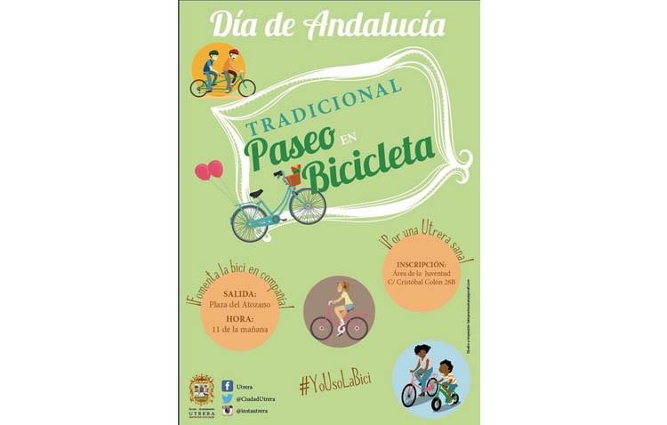 Las bicicletas protagonizan el Día de Andalucía en Utrera