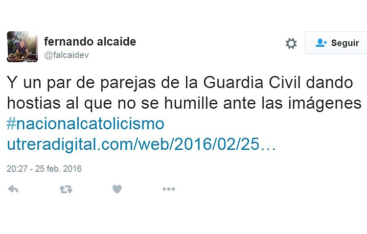 Un destacado miembro del PSOE vincula al Consejo de Hermandades con el nacionalcatolicismo al pedir unas vallas por seguridad