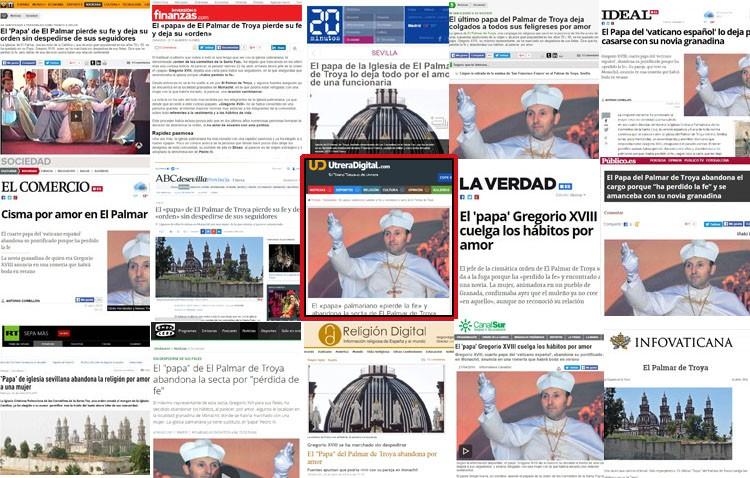 Gran repercusión en los medios españoles de la primicia de Utrera Digital sobre la dimisión del «papa» de El Palmar de Troya