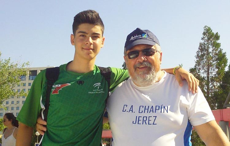 El utrerano Adrián Durán, finalista en el campeonato de España juvenil de lanzamiento de jabalina