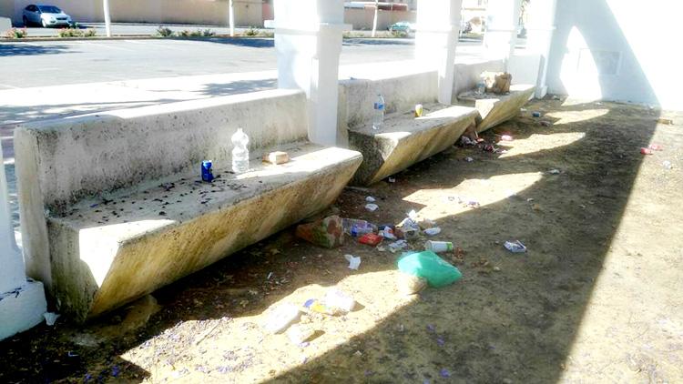 El PA exige al Ayuntamiento que refuerce la limpieza en la explanada de Consolación