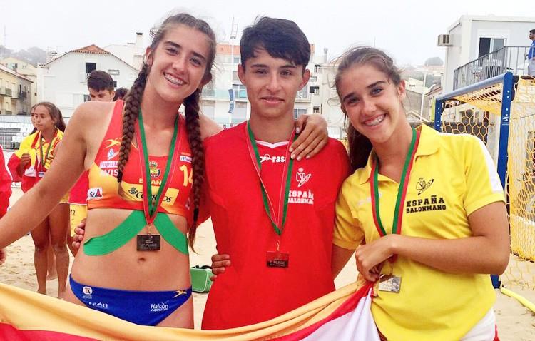 Éxito para tres utreranos en el Campeonato de Europa de balonmano playa