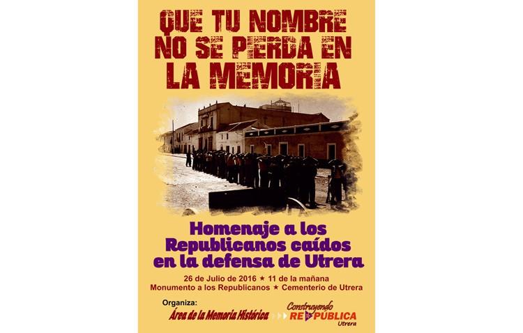 La plataforma «Construyendo ReDpública» rendirá homenaje a los republicanos asesinados durante la dictadura