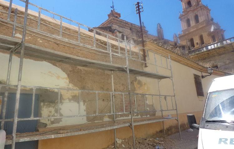Reformas exteriores en la parroquia de Santa María