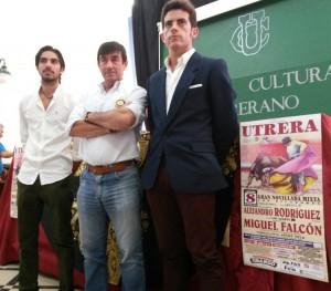 Alejandro Rodríguez, Carmelo García y Miguel Falcón