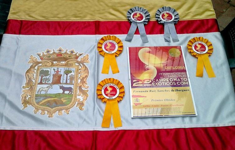 Lluvia de medallas para dos utreranos en un campeonato de ornitología en Portugal