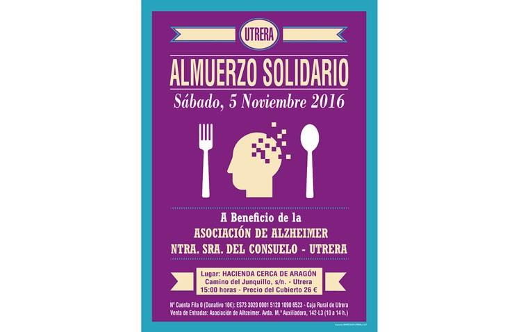 Almuerzo solidario a favor de la asociación de enfermos de alzheimer