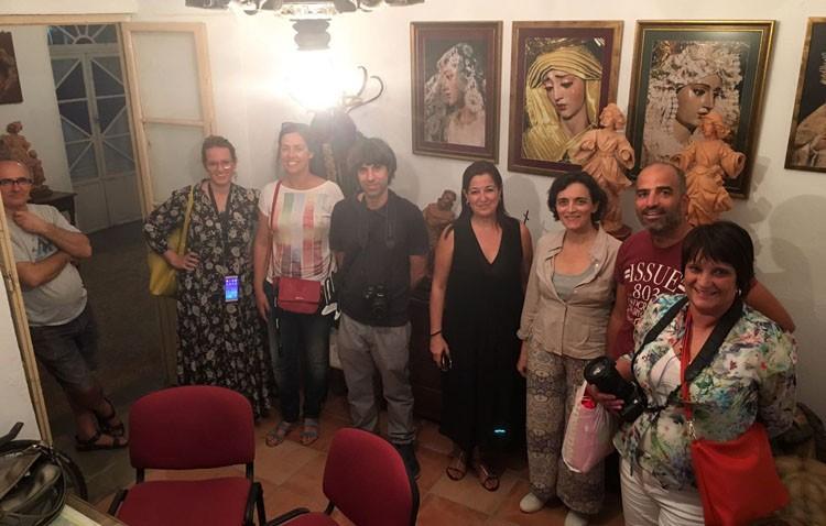 Periodistas y blogueros de España y Portugal visitan Utrera en el marco de «Caminos de Pasión»