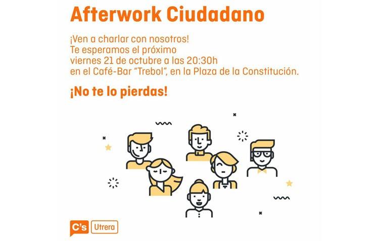 Ciudadanos organiza un «afterwork» para que los utreranos puedan conocer este proyecto político