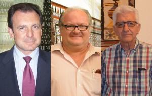 Ernesto Sanguino, Francisco Javier León y Joaquín Curado