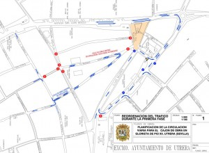 Reordenación del tráfico con motivo de las obras
