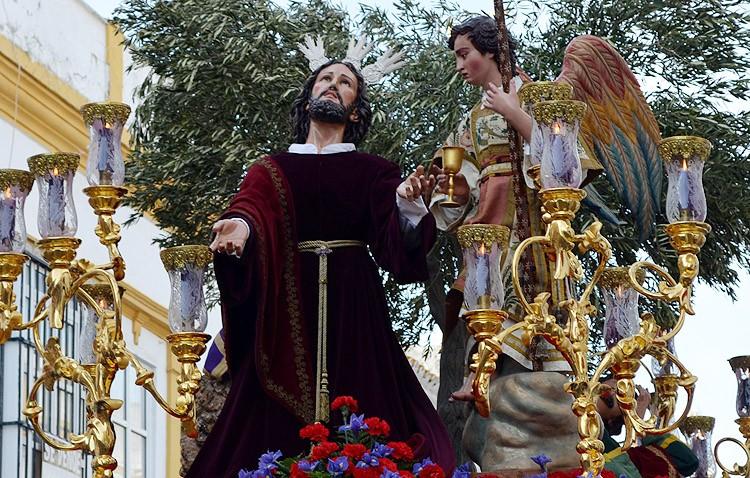 Retirada al culto la imagen del Señor Orando en el Huerto para su restauración