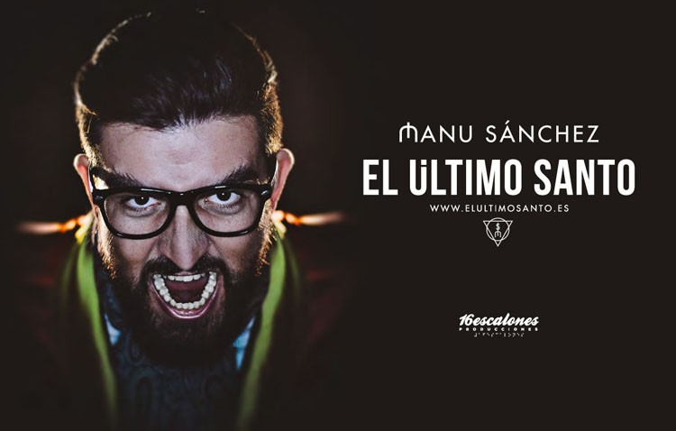 El humorista Manu Sánchez llega al teatro de Utrera con «El último santo»