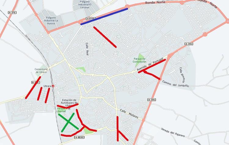 Otro ramillete de obras afectarán a distintas zonas de Utrera