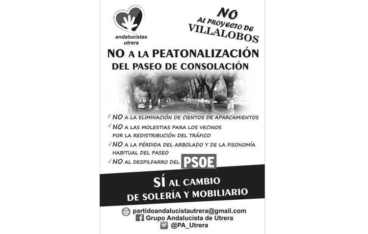 El PA lanza una campaña contra el «absoluto despropósito» que pretende el gobierno local en el paseo de Consolación